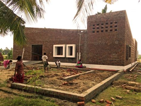 Small House Builders a contemporary raw brick house in india shelters orphaned