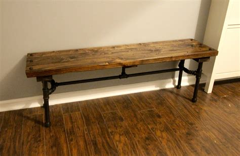 pipe bench legs orc week 5 diy industrial pipe bench charleston crafted