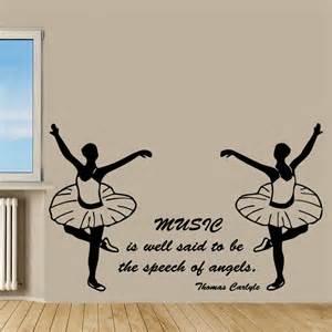 Dance Wall Murals Wall Decals Quote Music Dance Ballet Angels Vinyl Sticker