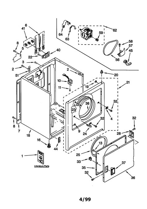 kenmore electric dryer parts diagram kenmore electric dryer parts model 11060212990 sears