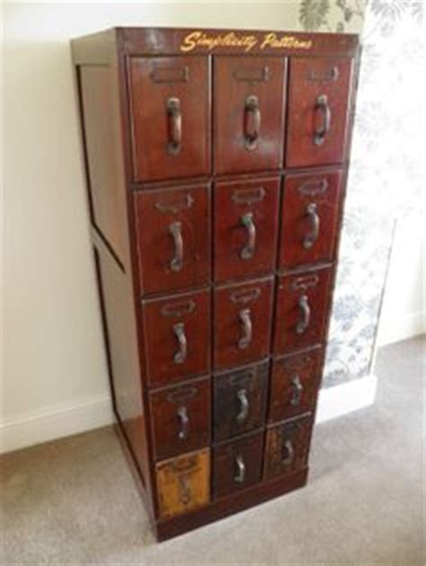 vintage mccalls pattern cabinet vintage simplicity patterns haberdashery cabinet by