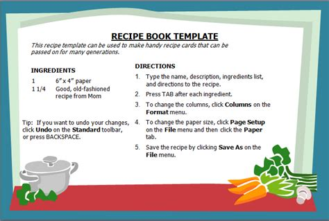 excel recipe template for chefs chefs resources