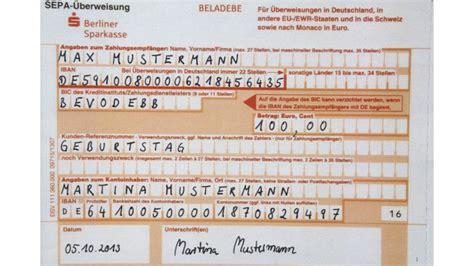 iban berliner bank neue nummern f 252 r ihre 220 berweisung b z berlin