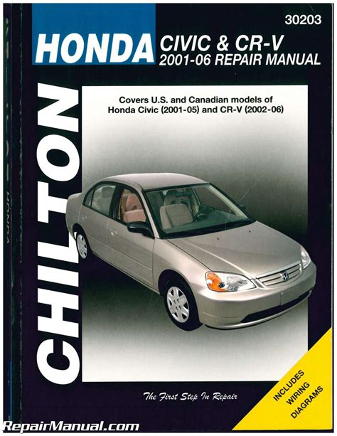 manual repair free 2001 honda civic spare parts catalogs chilton honda civic and cr v repair manual