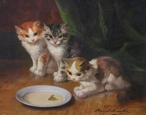 painting cats cat painting 6 alfred brunel de neuville painting