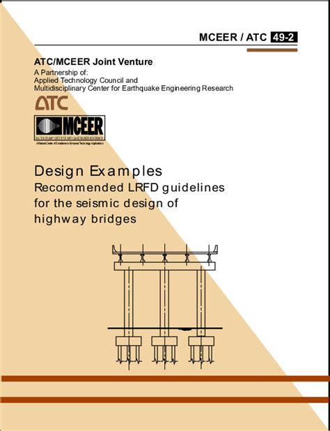 design criteria for bridges publications design exles recommended lrfd