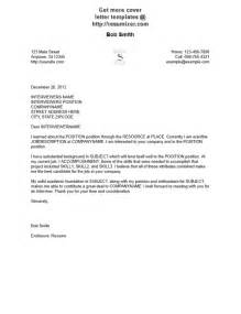 Cover Letter Fomat by Cover Letter Format Best Template Collection