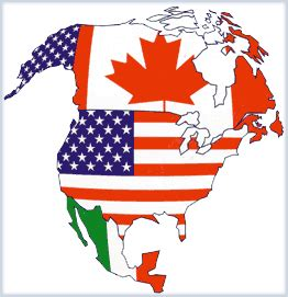 north america map with flags map of north american with flags by niceifarted on deviantart