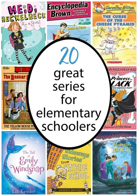 elementary picture books 20 favorite chapter book series for elementary schoolers