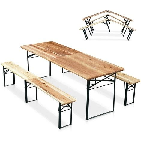Table Banc Brasserie by Table De Brasserie Pliante Bancs Bois Ensemble 220x80