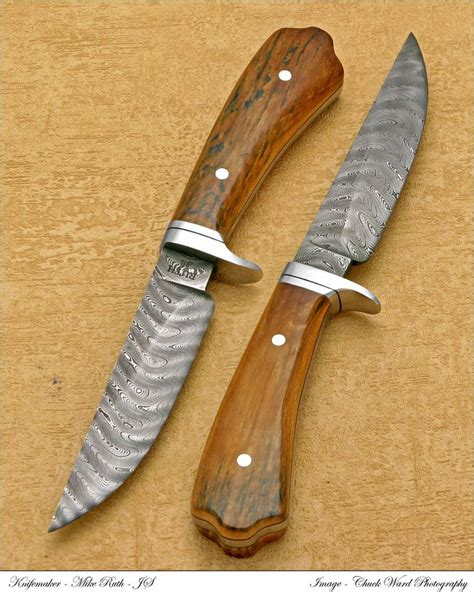Handmade Bushcraft Knives - custom damascus knife bushcraft knife