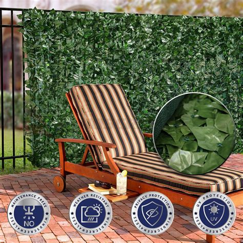 Ebay Patio Accessories 39 Quot H Faux Leaf Privacy Fence Screen D 233 Cor Panels