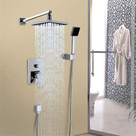 Shower Faucets Sets by Bathroom Luxury Mixer Shower Combo Set Wall