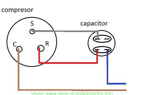 funcion capacitor en refrigeracion conexi 243 n compresor de aire acondicionado aires acondicionados