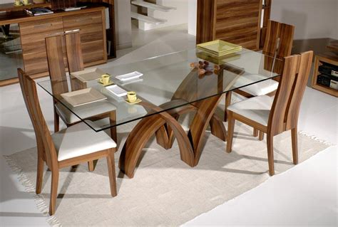 glass top dining tables with wood base inspiration and