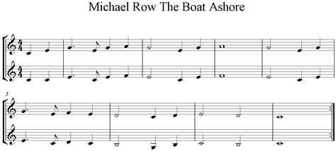 michael row the boat ashore noten klavier blockfl 246 te online spielen lernen