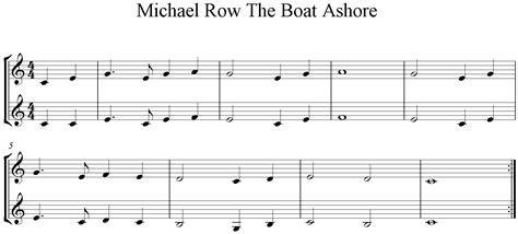 michael row the boat ashore querfl te kinderlieder
