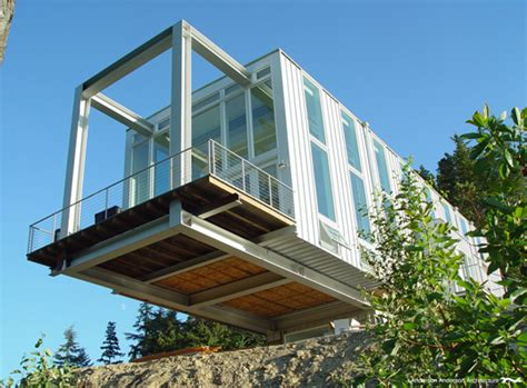 steel structure house design cantilever house combines commercial steel and residential style inhabitat green