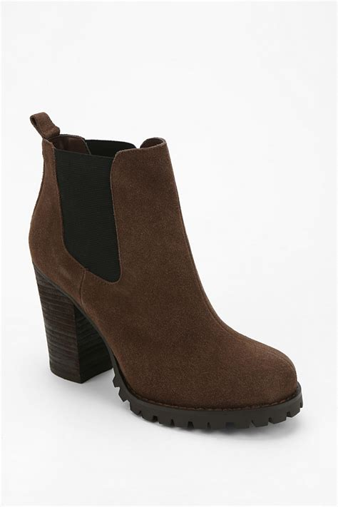 laundry boots lyst laundry brash treaded ankle boot in brown