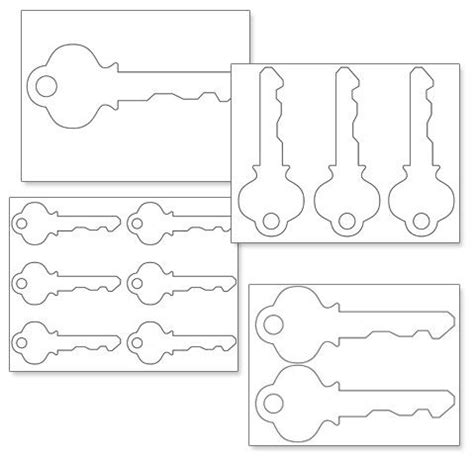 printable key templates printable key shape template projects to try pinterest