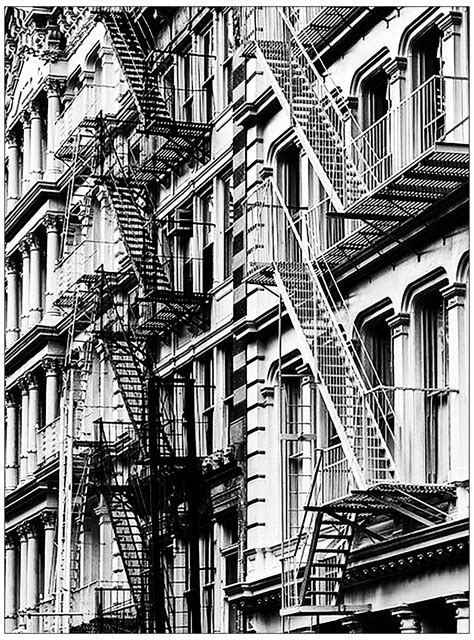 New york stairs - Architecture Adult Coloring Pages