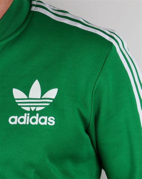 adidas originals superstar track top green white tracksuit adicolour