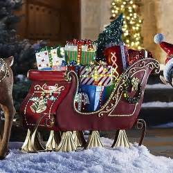 fiber optic sleigh outdoor christmas decorations