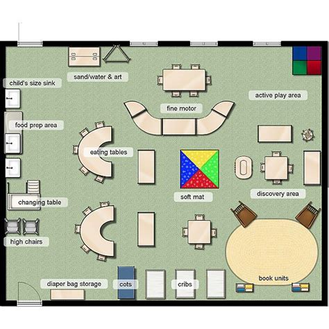 floor plan of a preschool classroom classroom layout early toddler 12 months classroom