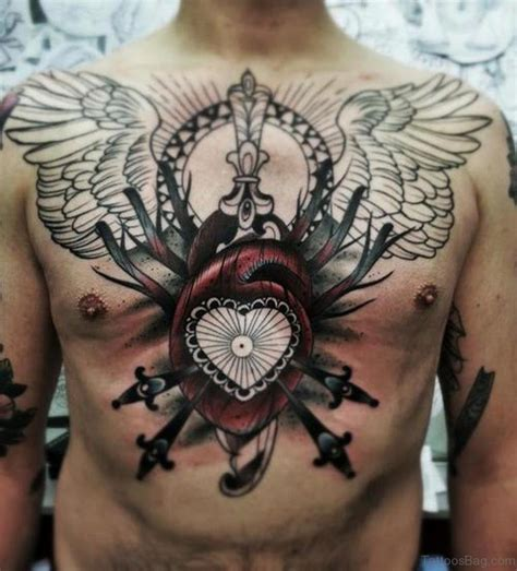 heart and dagger tattoo designs 75 attractive tattoos on chest