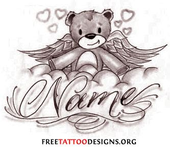 cute teddy bear tattoo designs baby teddy tattoos www pixshark images