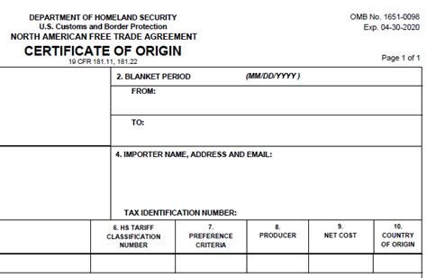 nafta certificate template get the nafta certificate of origin