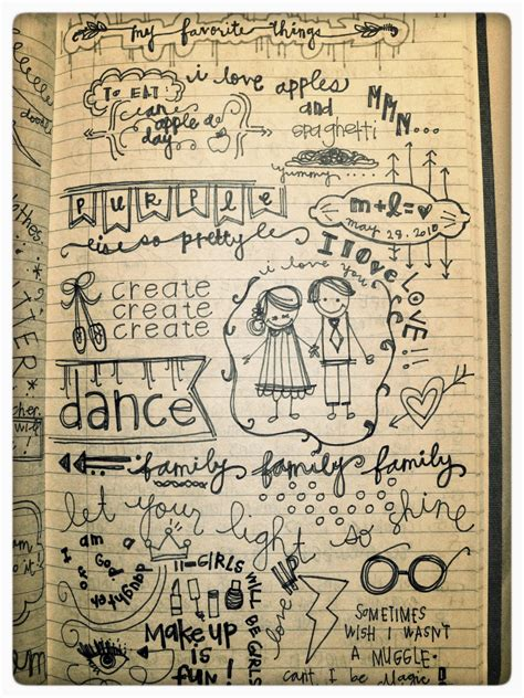 doodle draw journal notes by lauryn journal entry my favorite things
