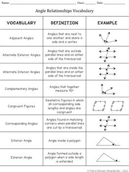 angle vocabulary worksheet answers geometry vocabulary worksheet resultinfos