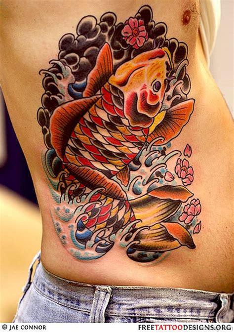 orange koi fish tattoo design 50 best fish tattoos for rib
