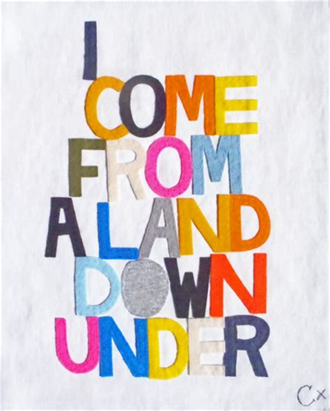 the land down under i come from a land down under modern artwork by