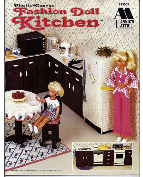 fashion doll kitchen fashion doll kitchen plastic canvas pattern by