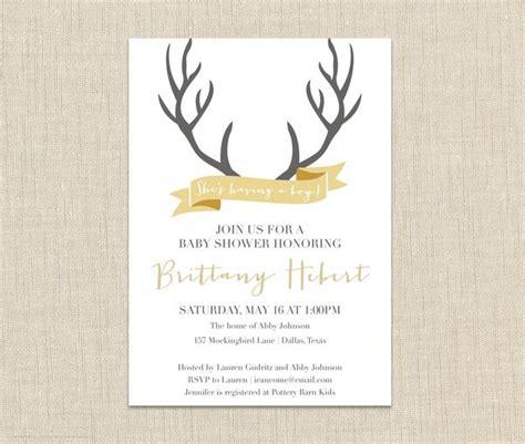 Free Printable Deere Baby Shower Invitations by Deer Baby Shower Invitation Brown Paper Studios