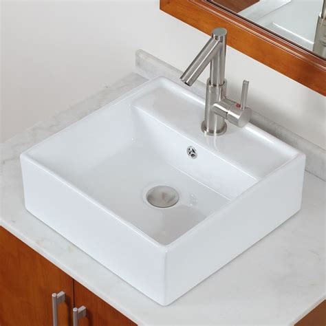 artistic bathroom sinks elite ceramic bathroom sink with unique square design 9978