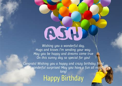 for birthday birthday congratulations for ash