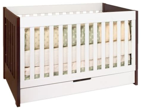 Two Tone Baby Cribs Babyletto Mercer 3 In 1 Convertible Crib With Toddler Rail Two Tone Furniture Baby Furniture