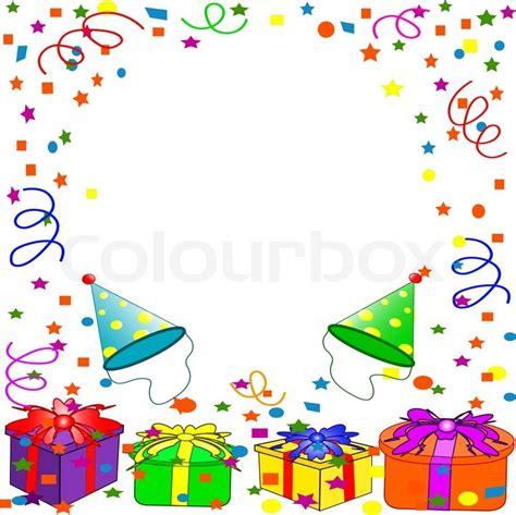 Undangan Ulang Tahun Birthday Invitation Colorful Theme happy birthday background stock vector colourbox