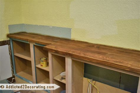 my diy wood countertop is finished well almost