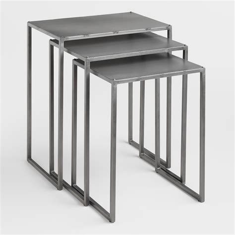 nesting tables ashton nesting tables set of 3 world market