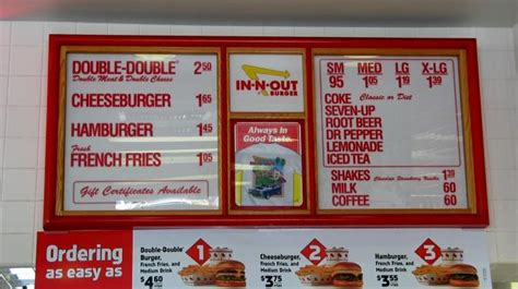 inn n out burger menu in n out burger roadfood