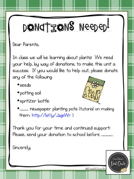 charity letter to parents seed to plant donation letter parents plants and