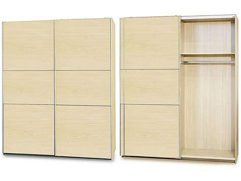 sliding bedroom wardrobe in maple with mirror homegenies