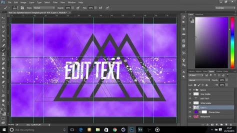 how to make a template in photoshop free banner avatar photoshop template