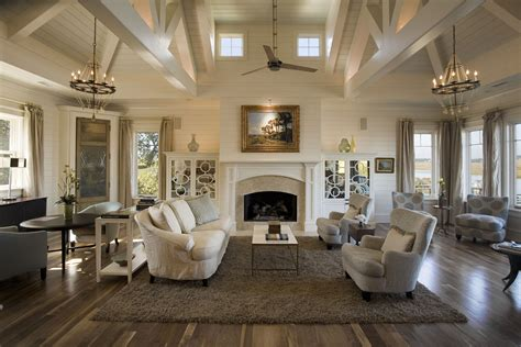 High Vaulted Ceiling by Sullivan S Island Creekside Herlong Architects Architecture Interior Design