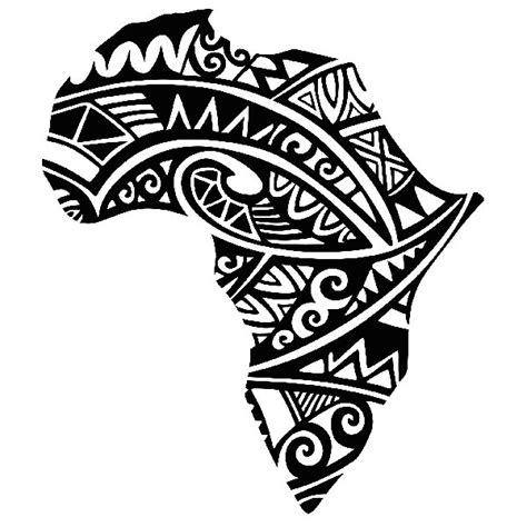 tattoo paper south africa africa silhouette tribal tattoo