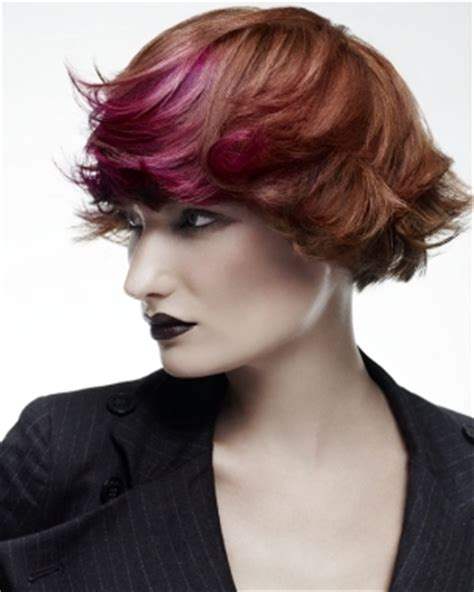 hairstyles with dyed bangs colored bangs hairstyles